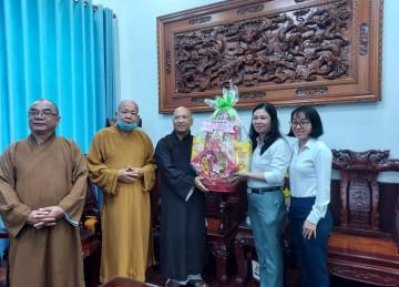TX.Gò Công: Thường trực BTS Phật giáo thăm và chúc Tết lãnh đạo các cơ quan ban ngành
