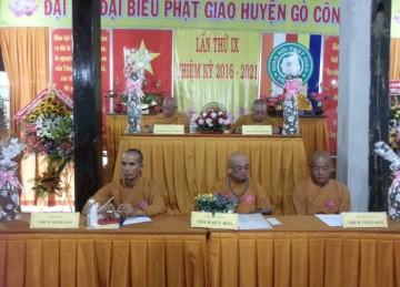 Tiền Giang: Đại Hội Đại Biểu Phật Giáo Huyện Gò Công Đông Lần Thứ IX Nhiệm Kỳ 2016 – 2021