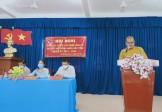 Đại đức Thích Huệ Phát ứng cử viên Đại biểu HĐND tỉnh Tiền Giang tiếp xúc cử tri tại huyện Tân Phú Đông