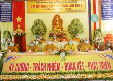 TX.Gò Công: TT.Thích Giác Nguyên tái đắc cử Trưởng BTS Phật giáo thị xã nhiệm kỳ 2021 – 2026