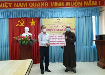 Tiền Giang: Niệm Phật đường Liên Hoa vận động hỗ trợ mua vắc-xin phòng chống dịch Covid-19
