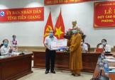 Tiền Giang: Phật giáo tỉnh ủng hộ hơn 200 triệu đồng cho quỹ phòng chống dịch Covid-19