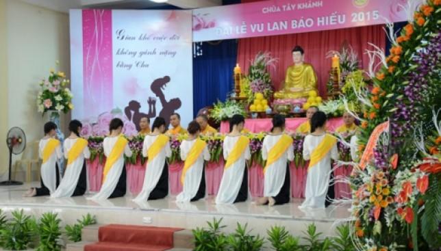 Lễ Vu Lan Báo Hiếu tại chùa Tây Khánh - Thái Bình