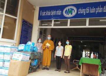 Tiền Giang: Ban Trị sự Phật giáo tỉnh ủng hộ hơn 20 tấn gạo và vật tư y tế phòng chống dịch tại TP.Mỹ Tho